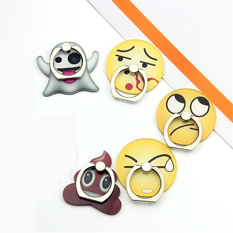 UVR Cartoon Smile Cute Face Finger Ring Mobile Phone Stand Holder For IPhone Xiaomi Huawei Acrylic All SmartPhone