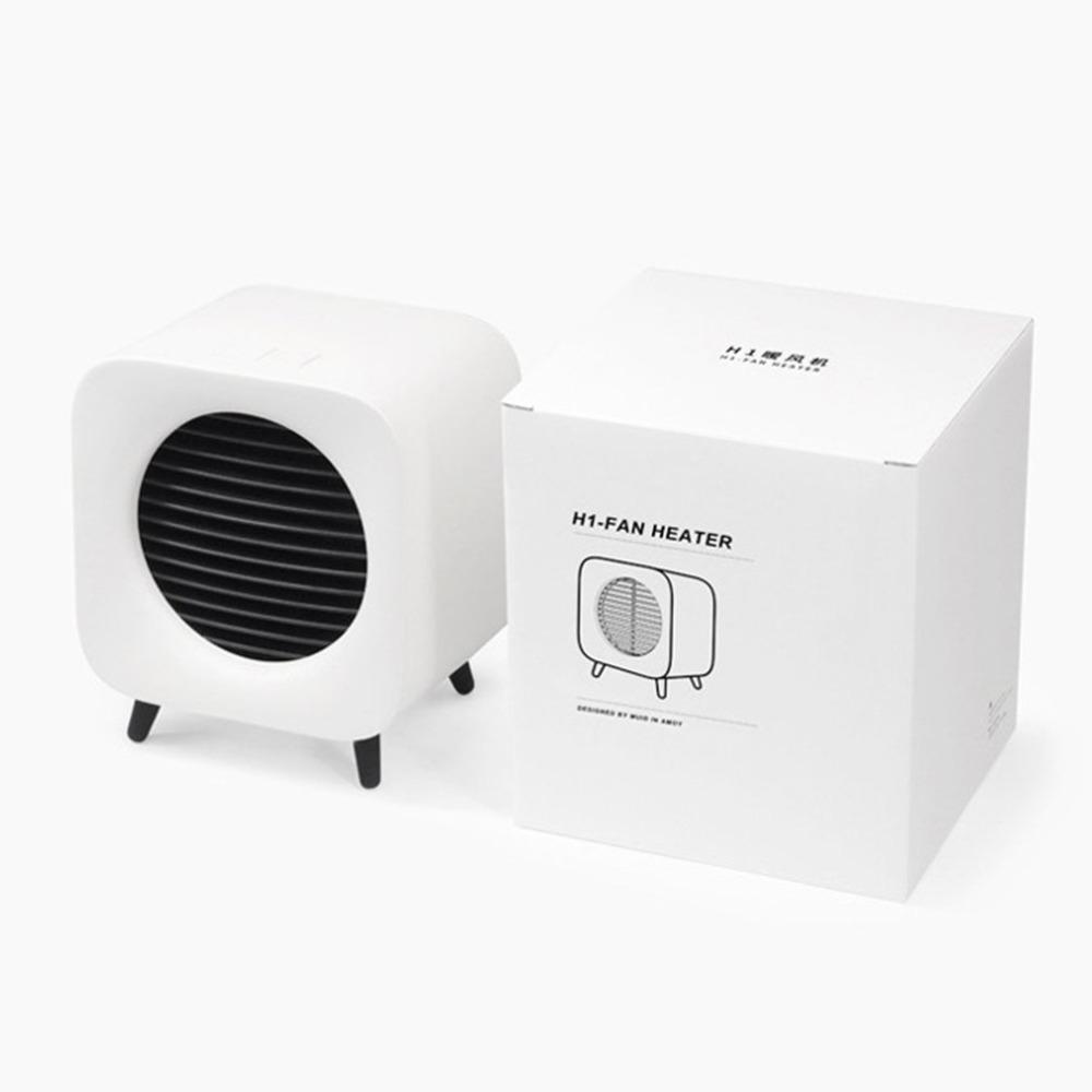 220v 700w Space Ceramic Heater Mini Fan Warmer Portable Bedside Fan Retro Electric Heater For Home Office