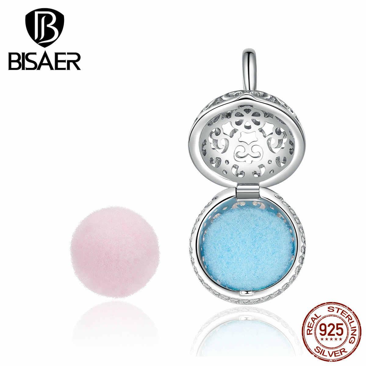Bisaer 2 מבושם כדור עם מעודן תליון תליוני קסמי עבור DIY צמיד שרשרת 100% 925 סטרלינג תכשיטי כסף GXC1198