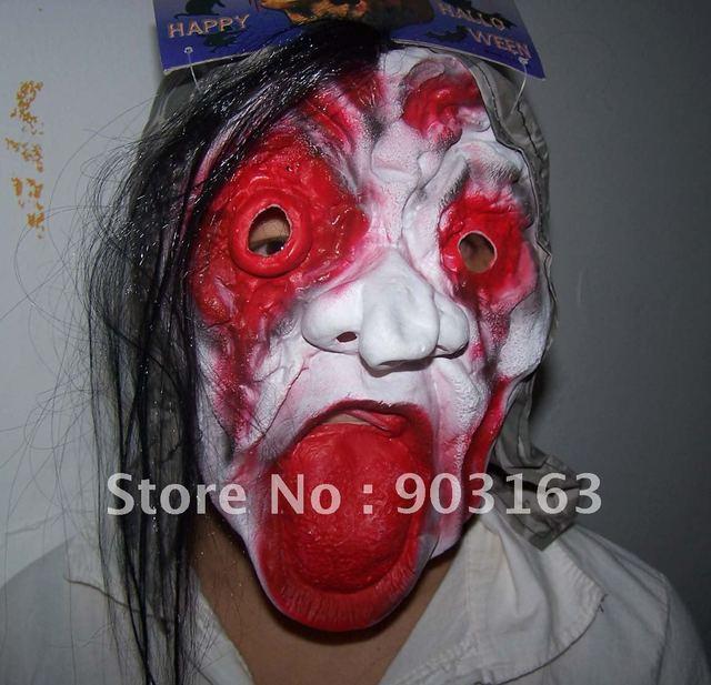 Wholesale 1Xpcs Halloween mask emulsion masks masquerade super mask - terror + free shipping