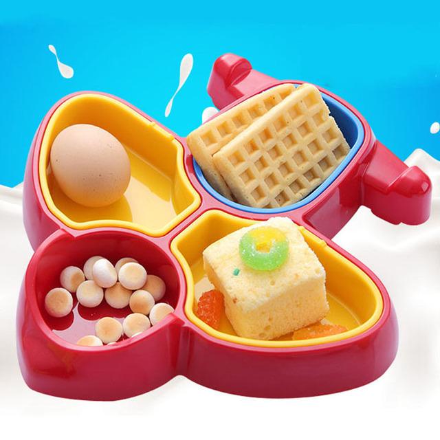 Kawaii em forma de bebê de bebê de grade de cores brilhantes de mesa de pratos para bebês