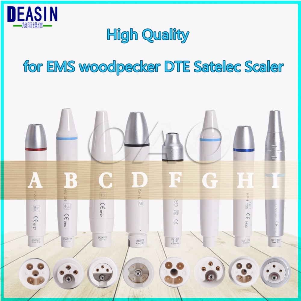 Good Quality Dental Ultrasonic Scaler Handpiece Detachable Ultrasonic Piezo Scaler Handpiece Ultrasonic Piezon Scaling Fit EMS dental ultrasonic scaler handpiece detachable ultrasonic piezo scaler handle scaler tips g1 3 p1 3 fit ems woodpecker