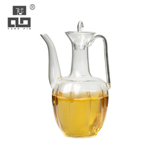 TANGPIN heat-resistant glass teapot boiling kettle for flower tea pot glass tea set drinkware 400ml