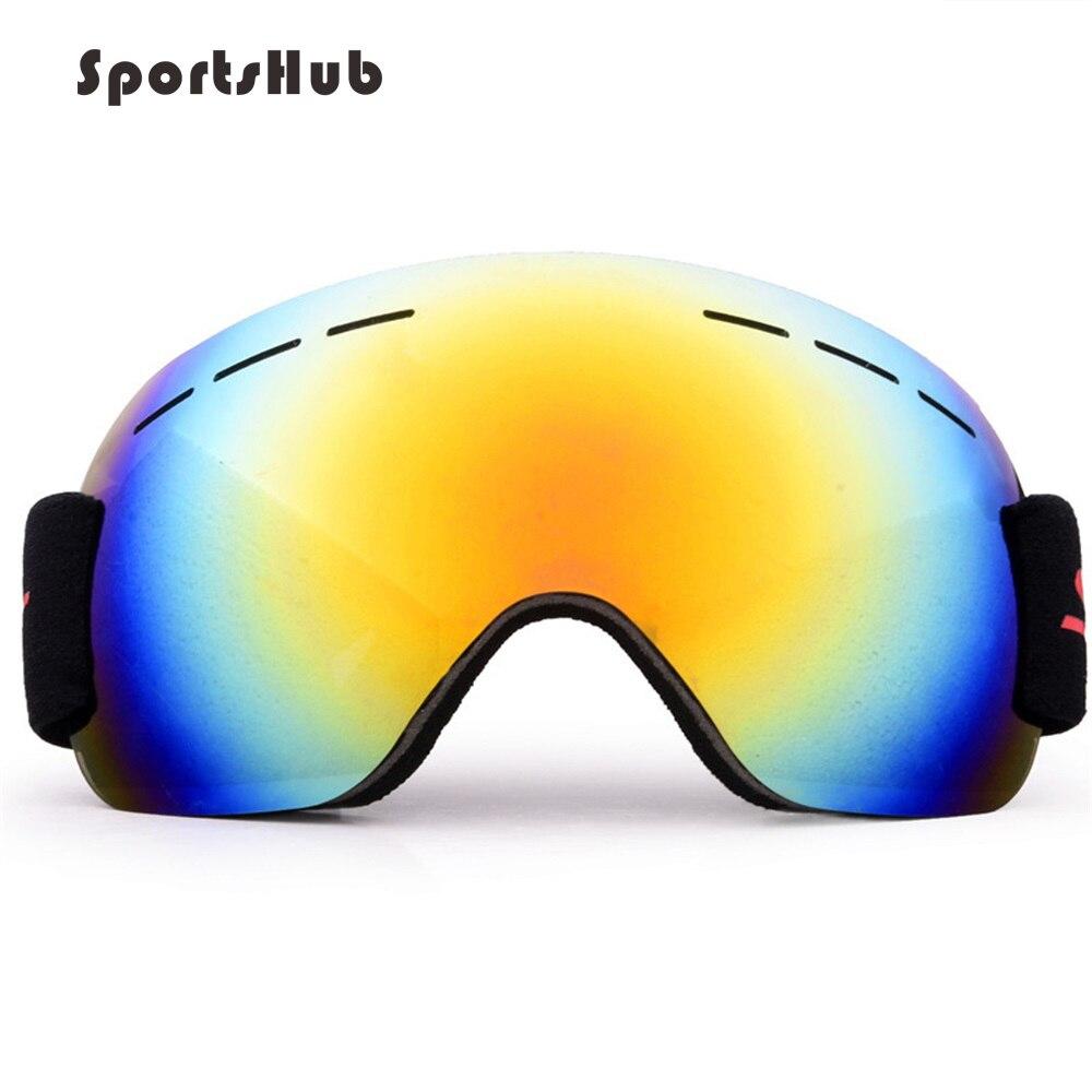 Спортивные ветрозащитные лыжные очки, анти-туман, большая Лыжная маска, очки для катания на лыжах, мужские и женские снежные очки для сноуборда CS0018