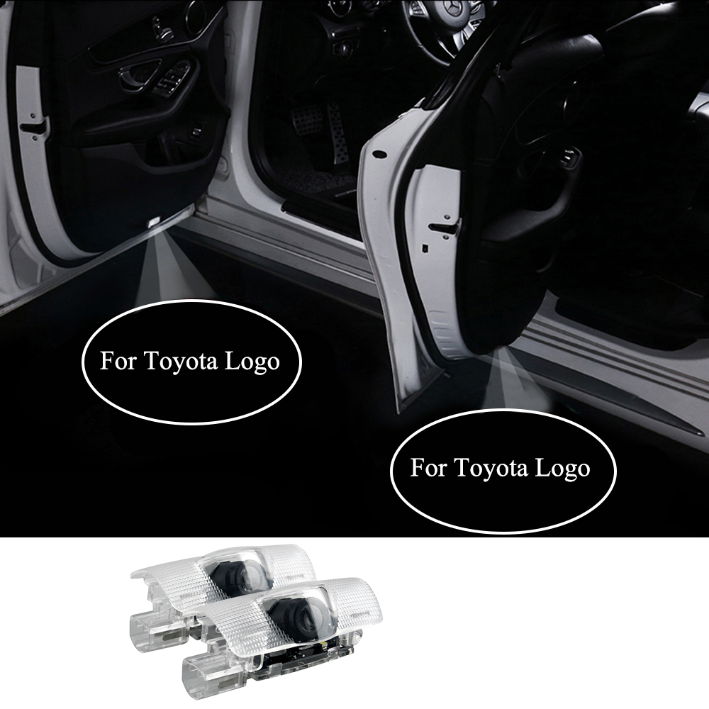 Logo Welcome Door Lights 12V Auto Courtesy Laser Shadow Decora Lamp for Toyota Prado 4 Runner Avalon Camry Corolla Car Styling