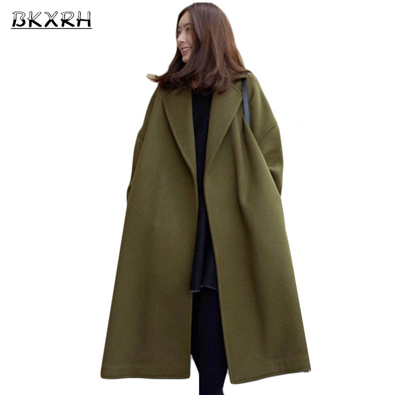 korean retro wide profile wool coat woman winter extra. Black Bedroom Furniture Sets. Home Design Ideas