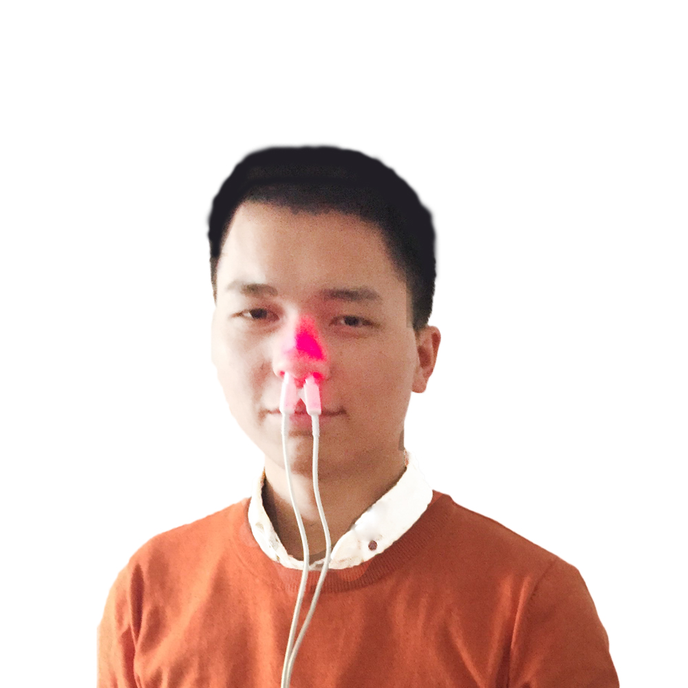 Semiconductor laser therapy device to treat rhinitis naturally allergic rhinitis 650nm low level laser intranasal light therapy device to treat rhinitis naturally
