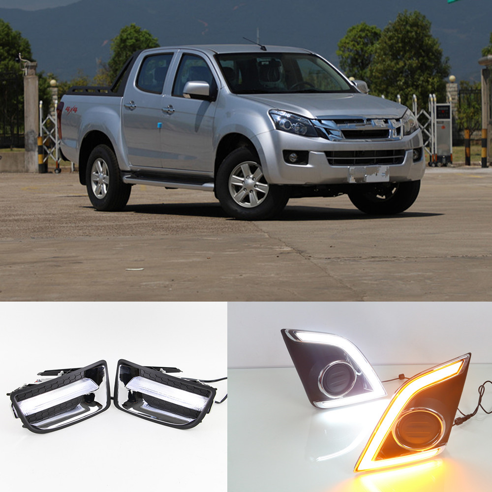 CSCSNL 1 set LED DRL Daytime Running Lights For ISUZU D MAX DMAX 2014 2015 2016