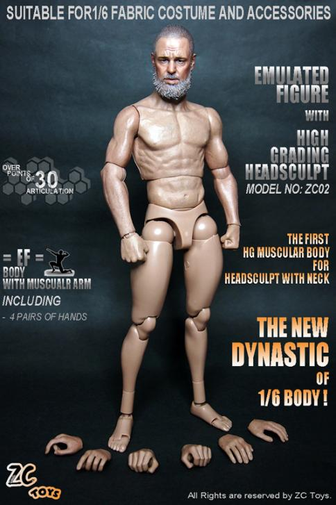 ZC Toys 1 6 Scale Muscular Figure Body ZC02 With Head Compatible with Hot Toys 2016