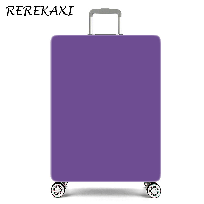 REREKAXI Suitcase Solid Color Elasticity Luggage Covers For 18-32 Inch Trolley Travel Baggage Case Cover Trunk Protection Cover