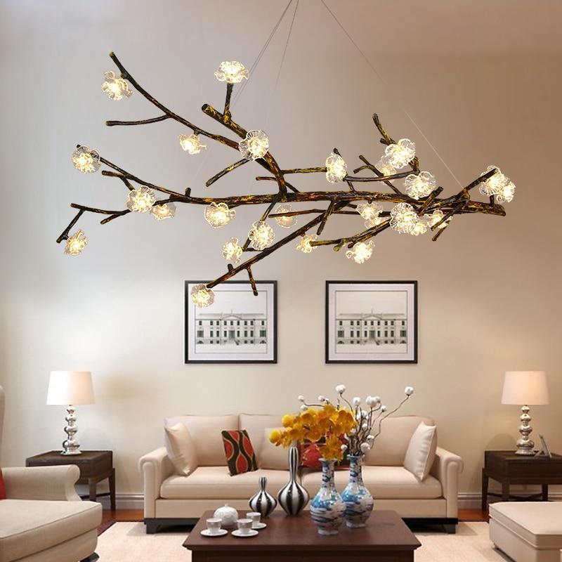 Фумат люстра Дизайн светильники Стекло Смола филиала свет люстры потолок Lamparas hanglamp блеск Книги по искусству светодиодные лампы