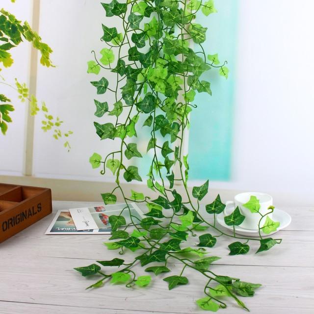 Vert Soie Artificielle Feuille de Lierre Garland Plantes En ...