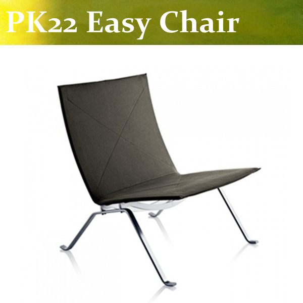 U-BEST high quality Modern styel furniture PK22 Easy Chair top grain genuine leather covering  in black color u best high quality reproduction basculant chair lc1 chair famous classic replica furniture