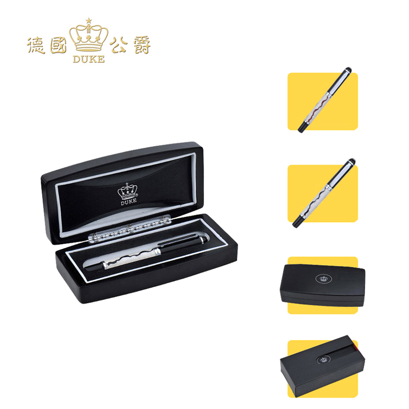 Luxury Black and Red Stripes Fountain Pen High Quality Duke Business Gift Pens with An Original Box Free Shipping Pen Stationery jinhao free shipping fountain pen and bag high quality man women pens business school gift send friend father 027