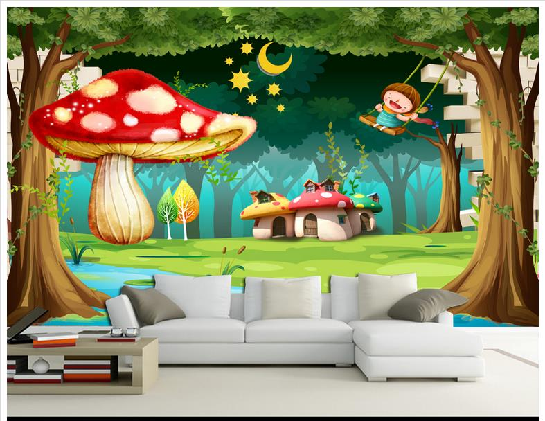 Buy custom 3d wallpaper 3d wall murals for Cartoon mural wallpaper