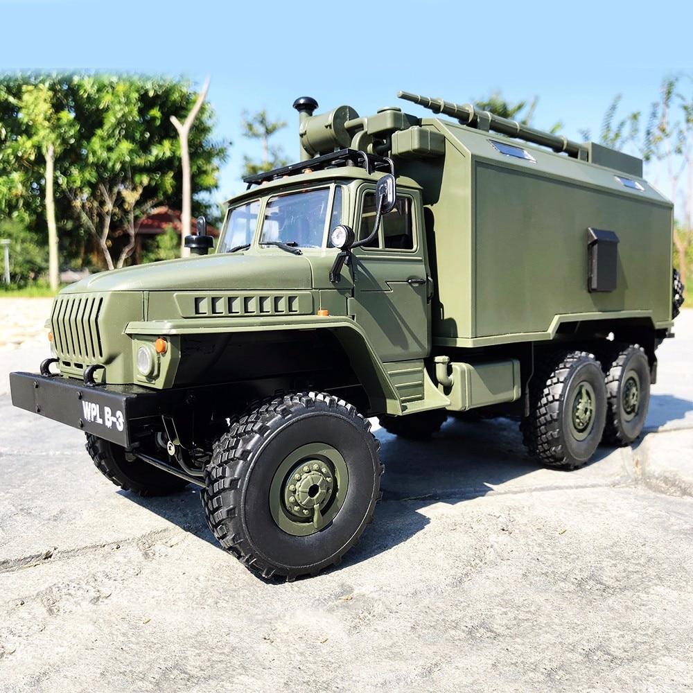 WPL B36 6WD Ural 1/16 2.4G RTR RC Truck Car Rock Crawler Veículo de Comunicação do Comando Militar Brinquedo Exército Auto caminhões Brinquedos Do Menino