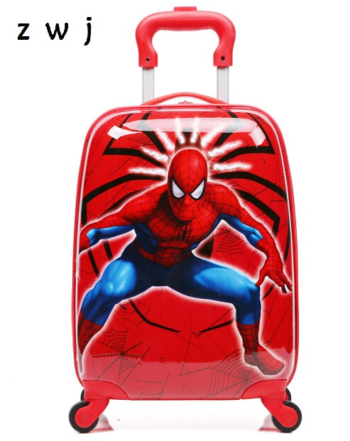 Spiderman Rolling Luggage Travel Trolley travel bag Marvel Heroes suitcasesSpiderman Rolling Luggage Travel Trolley travel bag Marvel Heroes suitcases