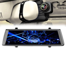"10"" Rearview Mirror Android IPS 4G Car Dvrs With Rear View Camera ADAS Bluetooth WIFI 1080p Camara Automovil Mirror Navigator(China)"
