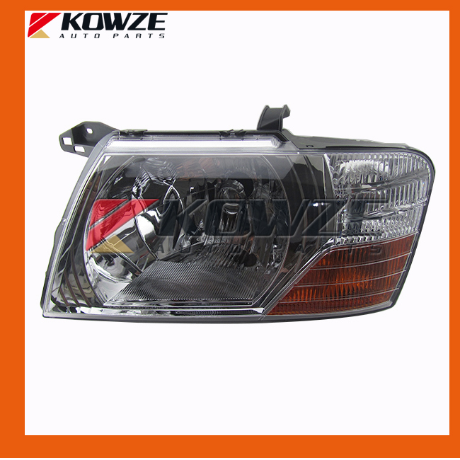 White Head Lamp Head Light Left  & Right For Mitsubishi Pajero Montero 3 III 2000 - 2008 head lamp