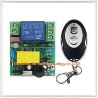 New AC220V 1CH RF Wireless Mini Switch Relay Receiver Ellipse Shape Transmitters For Appliances Gate Garage
