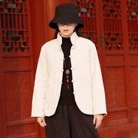 Coton Rembourré style Chinois Hiver Manteau Femmes Vintage Épais Chaud Veste D'hiver Femmes Kawaii Mignon Lâche Occasionnel Outwear Manteau C147