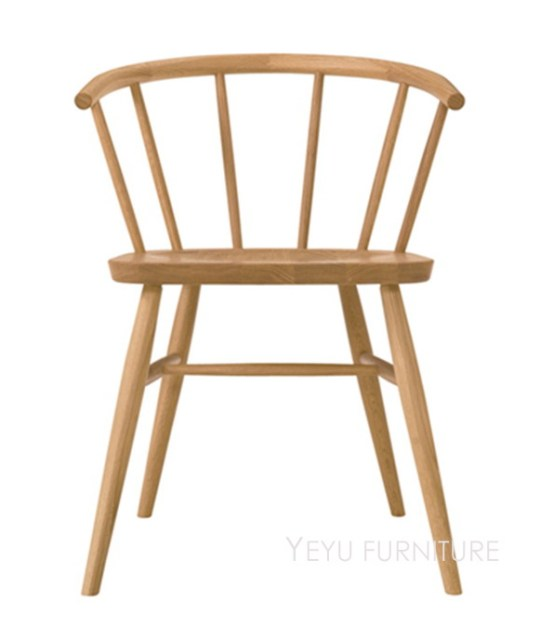 Modern Design Solid Oak Wood Dining Arm Chair, Fashion Wooden Cafe Meeting  Loft Waiting Leisure
