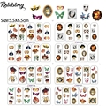Rolabling todos os tipos de Moda Máscara de água etiqueta do prego para as mulheres decorações de unhas autocolante arte dedo adesivo decalque