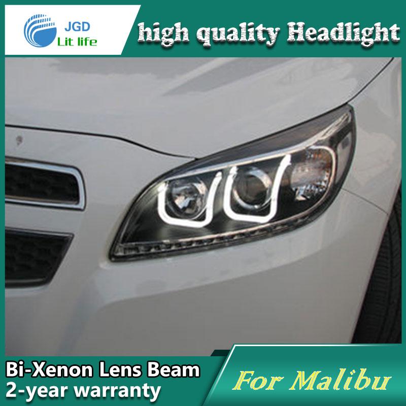 Car Styling Head Lamp case for Chevrolet Malibu 2012 2013 Headlights LED Headlight DRL Lens Double Beam Bi-Xenon HID Accessories car styling head lamp case for skoda superb 2009 2013 headlights led headlight drl lens double beam bi xenon hid accessories