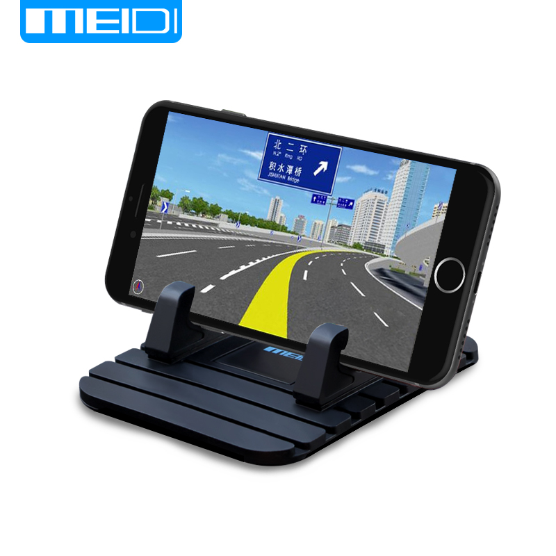 MEIDI Universal phone Holder Soft Silicone Anti Slip Mat Desktop Car Phone Holder Bracket For Samsung Xiaomi Mobile Holder wireless car charger for dashboard holder mount non slip silicone universal mat stand devices anti slip mobile phone holder