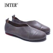 Ohанна/Женская обувь черная обувь на плоской подошве/коричневые слипоны балетки на плоской подошве натуральная кожа женская обувь на плоской подошве с круглым носком обувь Летняя обувь (703- 2)