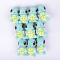 Monsters Go Squirtle Mini Plush Toys with keychain Soft Stuffed Animal Dolls Pendants 10pcs/lot 11cm