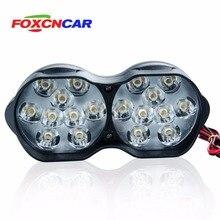 Foxcncar 18 светодио дный s 6500 К 12 В светодио дный мотоцикл фары велосипед Туман свет лампы мопед скутер DC 24 В наружного освещения