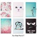 Для Apple iPad Pro 9.7 case Красочный Мультфильм Pattern Кожа PU распространяется на Случаи Для iPad Pro mini 9.7 7-дюймовый Планшетный Shell Протектор