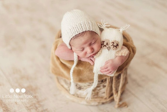 Infant baby hat owl toys handmade costume knitted newborn caps crochet photography props newbaby hats