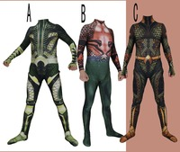 High Quality Justice League Aquaman Cosplay Costume Lycar High Quality Superhero Zentai Party Bodysuit Halloween Jumpsuit