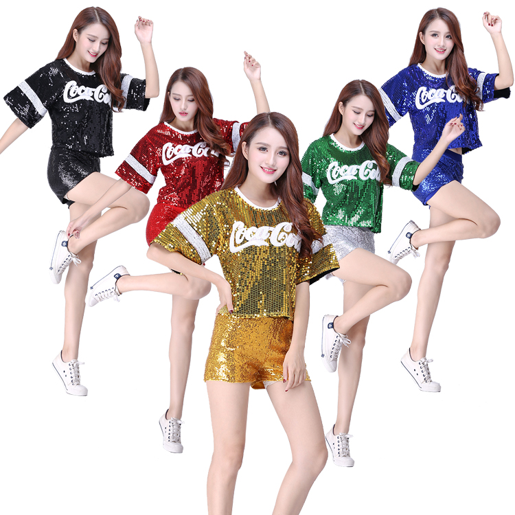 High Quality!2018 Hot Football Girl Cheerleading Uniforms Hip Hop Clothing For Women Performance Costume,Free Shipping