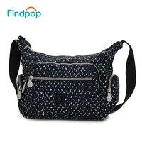 Findpop Single Shoulder Bags Waterproof Canvas Women Messenger Shoulder Bags 2017 Fashion Casual Printing Ladies Crossbody