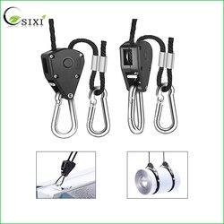 2 Pcs Prático Rope Ratchet Cabides 150LB 1/8 polegada Ratchet Cabides de Luz Da Lâmpada do Refletor Levantadores para Levou Crescer Luz Tenda lâmpada