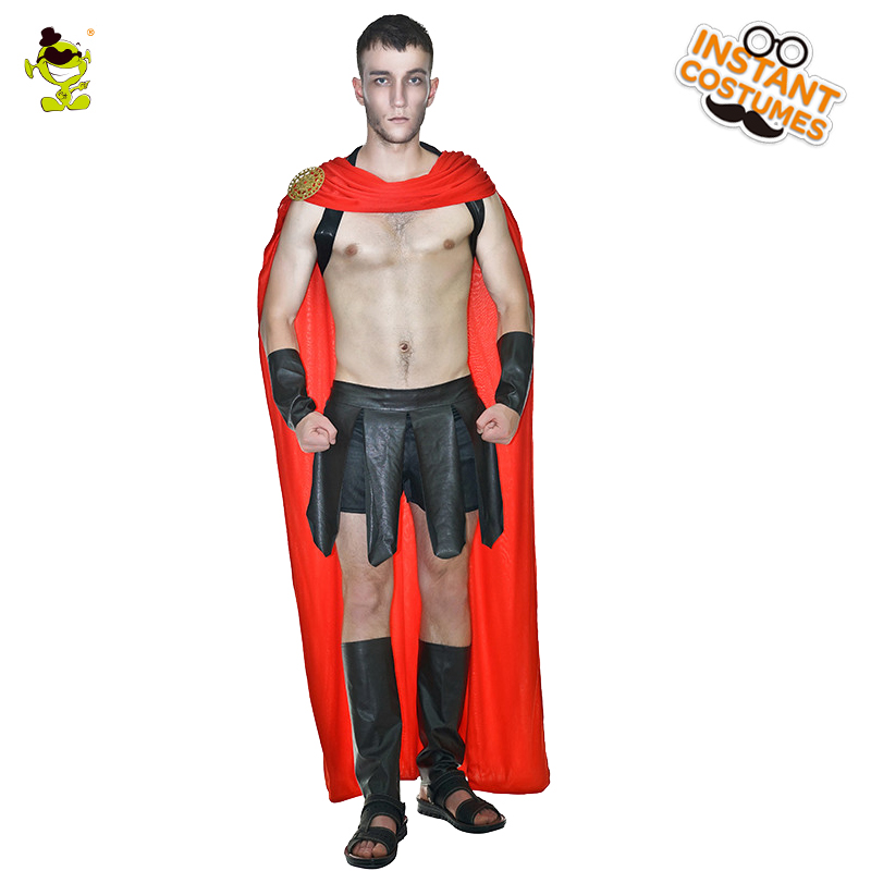 New Roman Warrior Cosplay Costume Mens Soldier Clothing Set Gladiator Spartans Halloween Warrior Costume