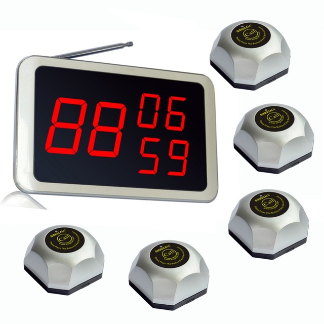 SINGCALL. Wireless chamando Sistema, chamada de ajuda para a fábrica, banco, KTV, Hospital, 1 receptor fixo com 20 botões