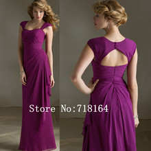 2017 new open back long chiffon purple bridesmaid dresses vestidos de festa de casamento vestido longo custom plus size
