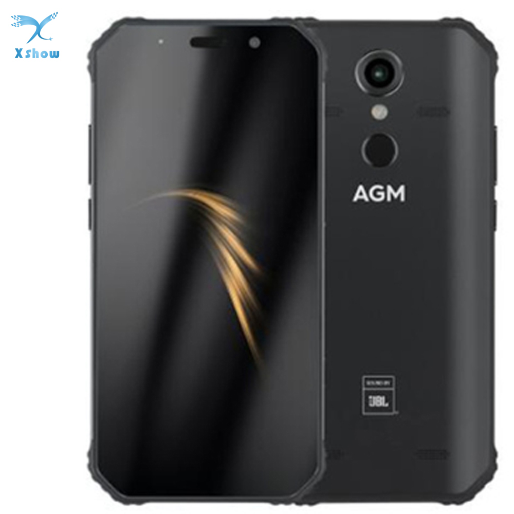 """AGM A9 IP68 Mobilephone Android 8.1 4GB 64GB 5.99"""" 18:9 FHD+ 5400mAh Snapdragon 450 Front 16MP Rear 12MP Fingerprint NFC Phone"""