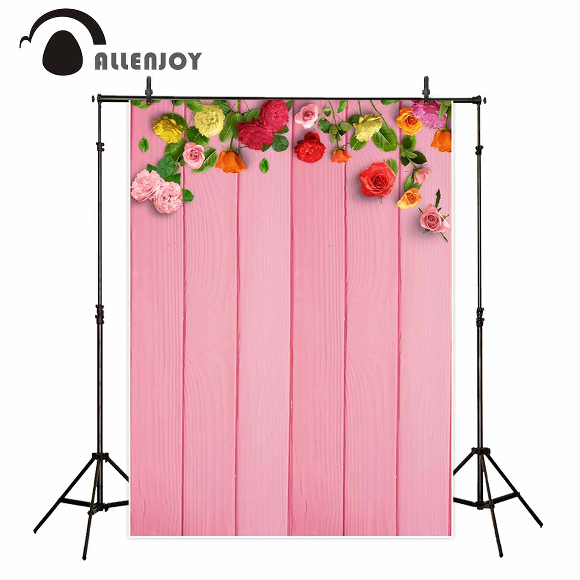 Allenjoy wedding flowers pink wood floor photography backdrops princess beautiful board party baby shower photo backgrounds allenjoy photography backdrops love white wood board floor red hearts branches valentine s day wedding photo booth profissional