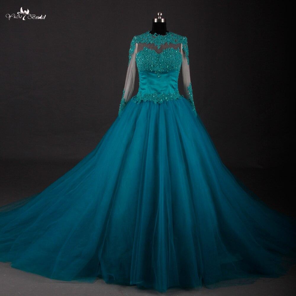 RSE606 longues robes de soirée Turquoise dos nu robes de soirée