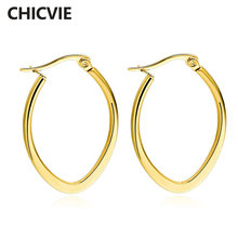 Chicvie 3 цвета лидер продаж милые брендовые серьги гвоздики