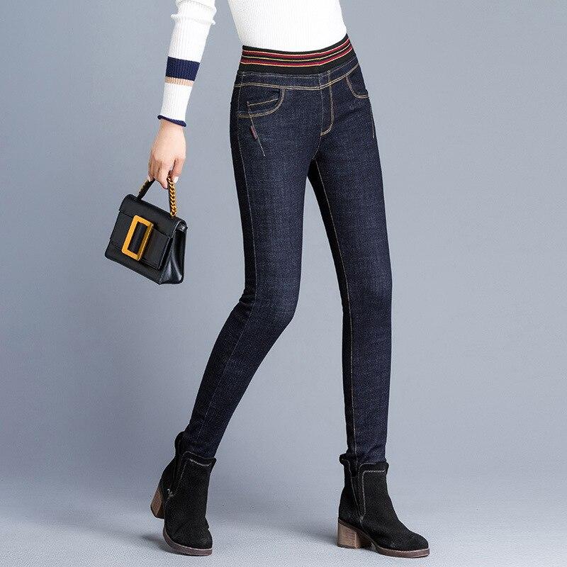 Boyfriend Le il In Denim Street Chart Donna Skinny Donne Plus See Autunno Velluto Wear Jeans 2019 Di Strappati Nero Size Vita Inverno Elastico Per Lavato 5qf4t