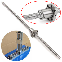 Durable 1 Pc SFU1204 L500mm Rolled Ball Screw C7 With Single Ballscrew Nut OD22mm For BK