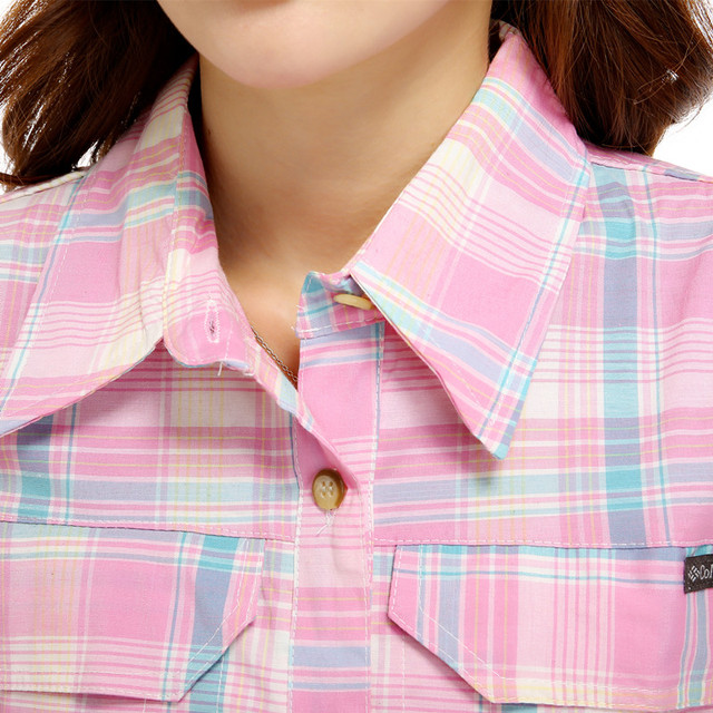 Female occupation in the summer 2017 Plaid short sleeved shirts and striped cotton Blouse Women office Tops stretch shirt 2840