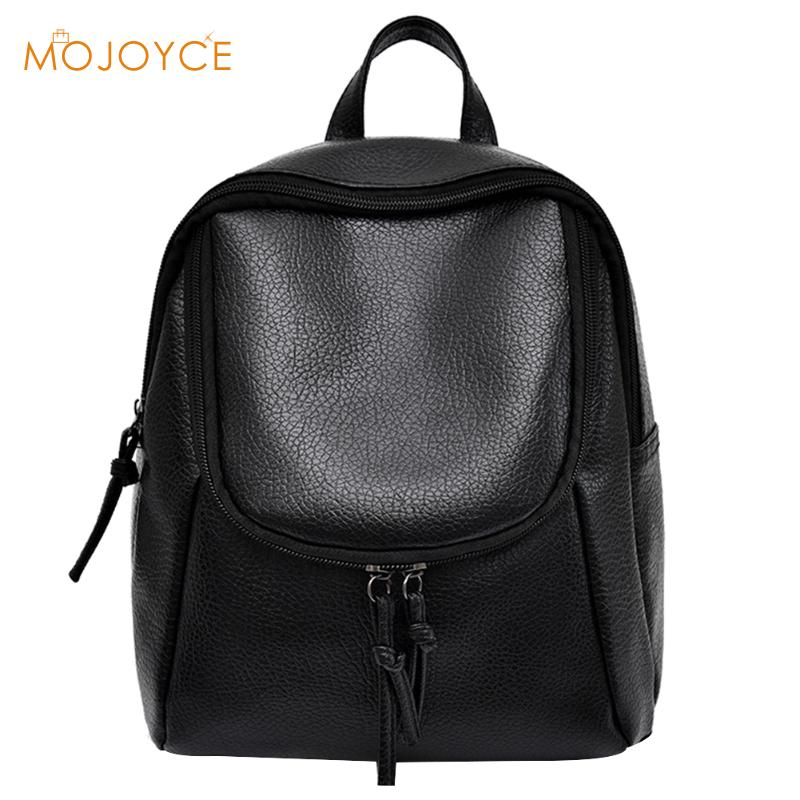 Rotro Backpacks Women PU Leather Bag Women Bags Small Women Backpack Mochila Feminina School Bags for Teenagers Female Rucksack nigedu women backpacks soft leather shoulder bag women s backpack school bags for teenagers girls mochila female travel bags