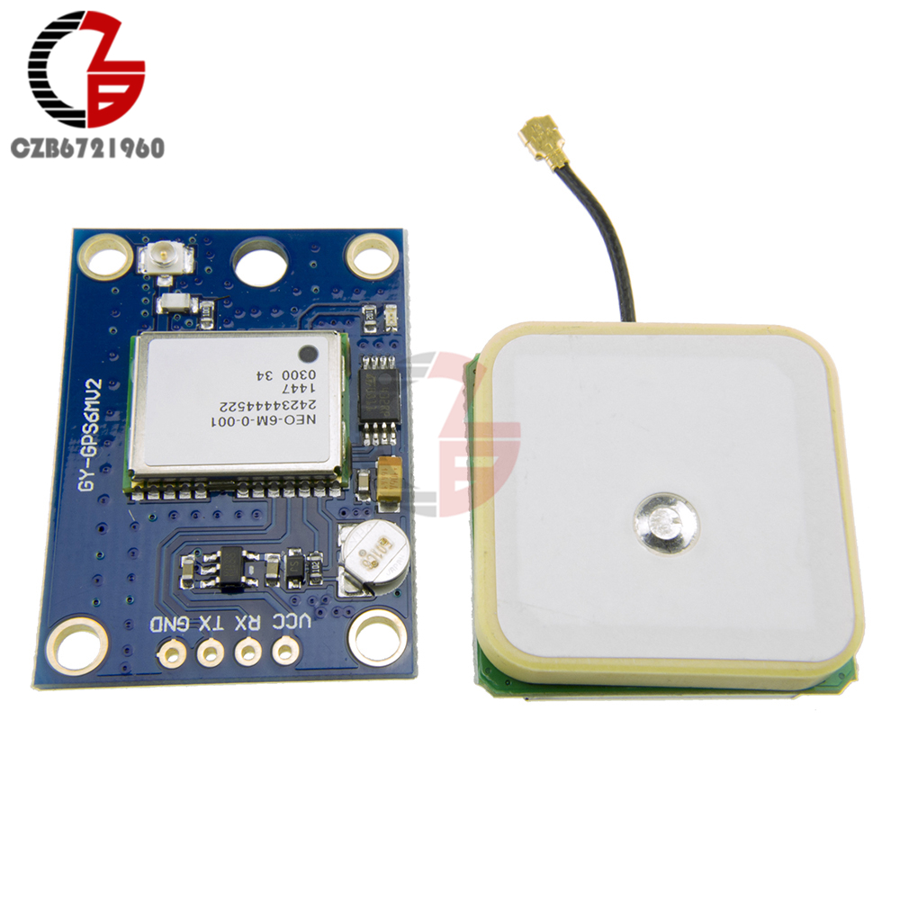 NEO-6M GPS Module Aircraft Flight Controller for Arduino MWC IMU APM2 freeshipping ublox neo 6m gps module with eeprom for mwc aeroquad with antenna